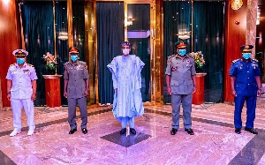 President Muhammadu Buhari on Friday, March 5, 2021, decorated the new service chiefs