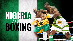 Omola Dolapo recorded the fastest win in the boxing event