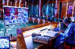 President Muhmmadu Buhari swore in four Permanent Secretaries