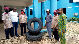 Winco Foam has donated 4 sets of tyres to the FRSC