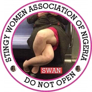The logo of the Stingy Women Association of Nigeria