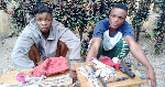 The two suspected armed robbers