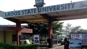 Front gate of the Lagos State University