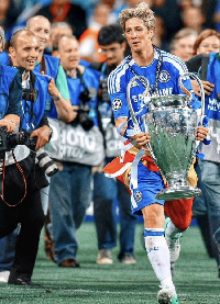 Torres clinching the trophy