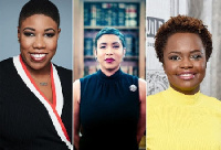 From (L to R) Symone Sanders, Ashley Etienne and Karen Jean-Pierre