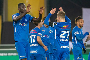 Paul Onuachu scored a brace,  5-1 in the Belgium Jupiler league