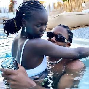 Runtown and his South Sudanese-Australian girlfriend, Adut Akech