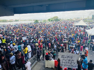 Some END SARS protesters