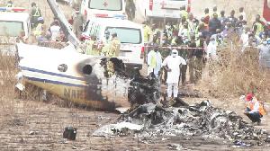 A plane crash site