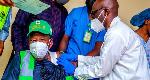Kano State Governor Abdullahi Ganduje receives his coronavirus vaccine