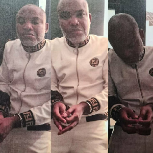 Nnamdi Kanu in police custody after he was arrested in Kenya and transferred to Nigeria