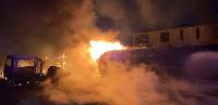 Fire guts fire tanker in Lagos