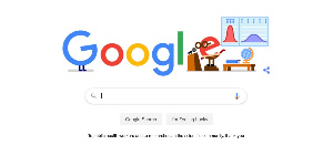 Google Doodle for coronavirus helpers (9 to 5 google)