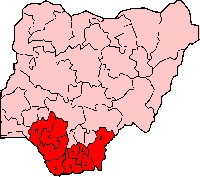 File photo: Niger-Delta map