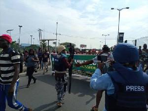 The protestors