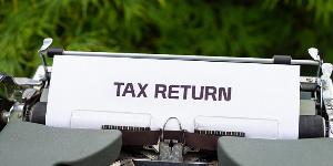 Tax return file photo