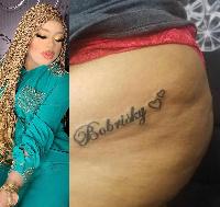 Bobrisky tattoo