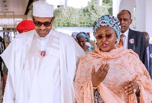 President Muhammadu Buhari and his wife Aisha Buhari