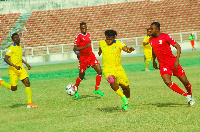 Star forward Samuel Stone in action for Jigawa Golden Stars