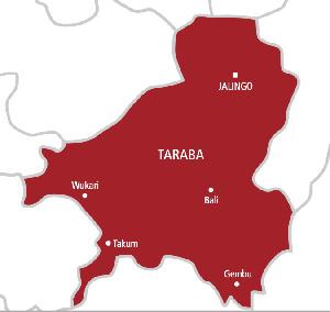Taraba State map