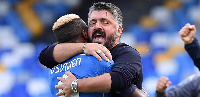 File photo: Gennaro Gattuso with Victor Osimhen
