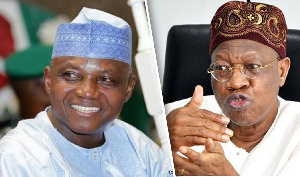 A composite of Presidential spokesperson Garba Shehu and Minister of information Lai Mohammed