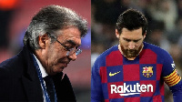 Massimo Moratti and Messi