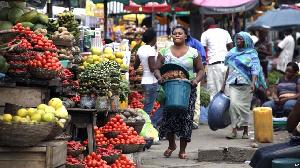 A marketplace scene in Nigeria