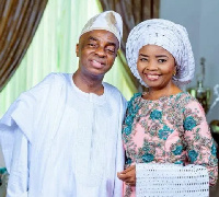 Bishop David Oyedepo and wife
