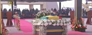 The state burial is being held at the Black Star Square in Accra