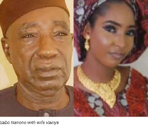 Alhaji Mohammed Sabo Nanono with his alleged new wife