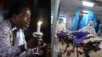 Prophet TB Joshua prays for COVID-19 patients in isolation center