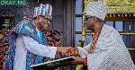 Buhari greets Oba of Lagos at 77
