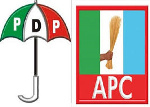 File photo: APC logo, PDP logo