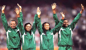 The women's 4x100m relay team