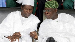 Former President Olusegun Obasanjo and Late Musa Yar'adua