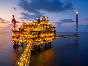 Oil rig (illustration)