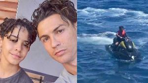 Cristiano Ronaldo and son