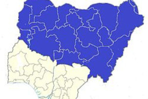 A map of the Northern part of Nigeria