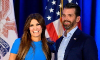 Kimberly Guilfoyle with Donald Trump Jr. Photograph: Jim Watson/AFP/Getty Images