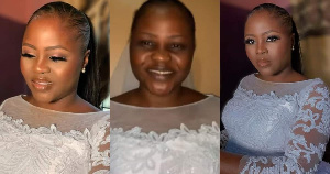 Beautiful bride made to clean off her makeup as church does not allow it