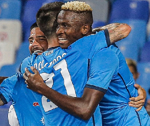 Victor Osimhen helped Napoli maintained their perfect start to the Italian Serie A season