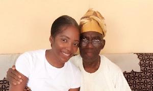 Tiwa Savage with father
