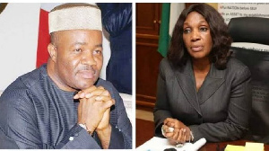 Godswill Akpabio and Joy Nunieh (img credit: Pulse)