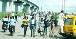 Lagosians trekking