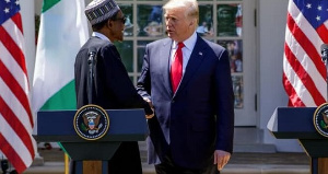 President Buhari in the White House with former President Trump