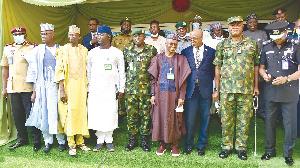 Kaduna State Governor, Nasir el-Rufai, with senior security officials