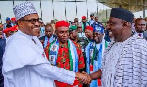 President Muhammadu Buhari with the Northern group