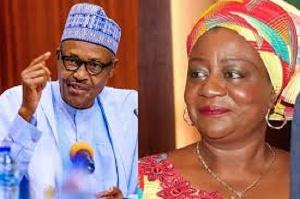Lauretta Onochie and pres. Buhari