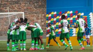 Super Eagles of Nigeria in action against Cape Verde